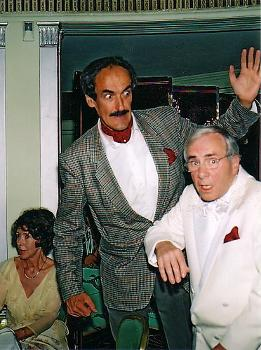 Andrew Sachs and I at The Dorchester Hotel